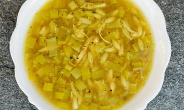 leek and lemon pepper chicken soup