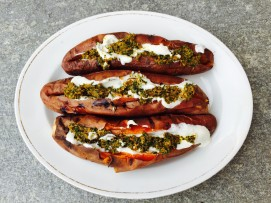 baked sweet potato chermoula