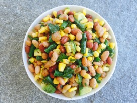 black lime bean salad