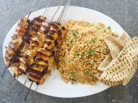 chermoula chicken kebabs