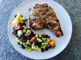 jerk pork chop pineapple salad