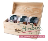 Pantry Start - Up Spice Kit in Wooden Storage Box