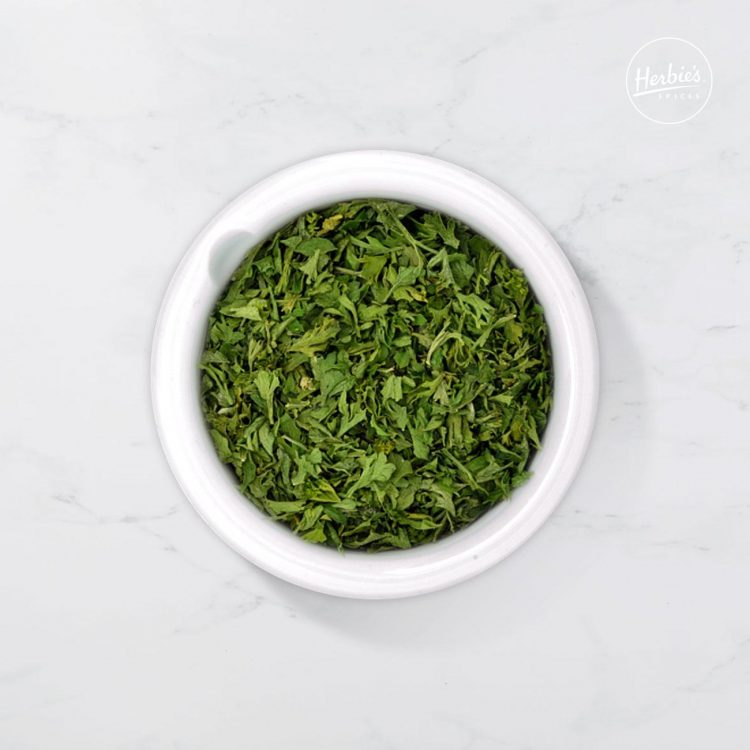 Parsley Leaves Rubbed