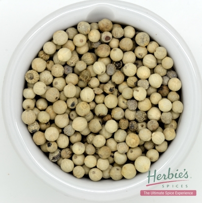 Peppercorns White Whole 40g Herbie S Spices
